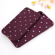 p; For iPhone 7 Plus Slim Shockproof Silicone Polka Dot Soft TPU Case Cover