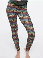 Victoria's Secret Pink Cozy Sleep Leggings Pants Pajama Rainbow Super Soft Sz L