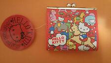 Hello Kitty Red Circus Kisslock Coin Purse Wallet Bag KK902
