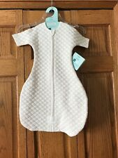 aden + anais sleeved sleeping bag sack white pink baby infant size 3-6 month new