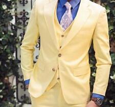 Cool Mens 3 Pieces Suits Coats Vest Pants Fromal Slim Fit Lapel Wedding Suits