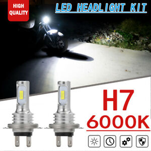 2x 70W 6000K Xenon White LED Headlight Upgrade Kit For Bmw S1000rr S1000xr 09-18