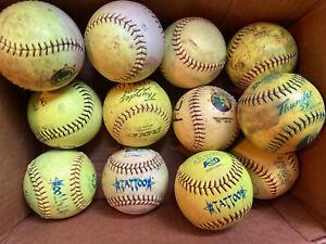 One Dozen mixed Softballs