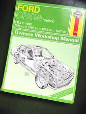 Ford Orion Escort Mk3 1983-88' J.H. Haynes Workshop Manual in Vgc