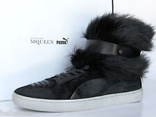 Puma ALEXANDER McQUEEN FUR JOUSTESSE Hi Sneaker Boot Shoes WEAR 2 WAYS Women 8.5