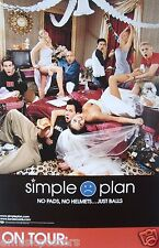 "SIMPLE PLAN ""NO PADS, NO HELMETS...JUST BALLS"" U.S. PROMO POSTER - Pop/Punk Rock"