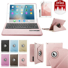 iPad 9.7 A1822/1823 Folio Leather Case Cover + Removable Bluetooth Keyboard