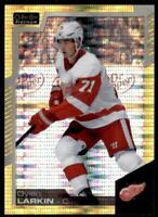 2020-21 UD O-Pee-Chee Platinum Preview Base Seismic Gold #P-DL Dylan Larkin /25