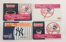 Dunkin Donuts Gift Card. NEW YORK YANKEES SGA Card. 2013, 2015-16, 2018. Mint.