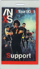 INXS 1990-91 X TOUR LAMINATED BACKSTAGE PASS Support