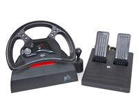 Mad Catz Racing Analog Steering Wheel and Pedals for Playstation 1 PS1
