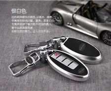 Silvery Smart FOB Remote Key Cover Bag Shell For Infiniti JX35 Q50 Car Key Case