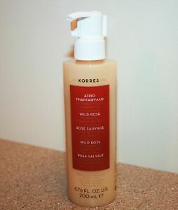 KORRES Wild Rose Foaming Cream Cleanser 6.76 oz / 200mL Full Size Face Wash