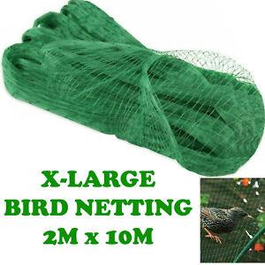 ANTI BIRD POND NETTING NET PLANTS VEG FRUIT PROTECT GARDEN FINE MESH 2M x 10M