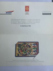 Rare Télécarte SNCF 8 Juin 1993 Schlumberger Catherine Suchocka