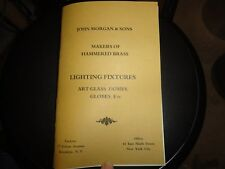 Antique Catalogue Tiffany Handel Leaded Slag Glass Vintage Lamp Shade Lighting