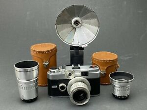 Argus C44R 35mm Rangefinder Camera with Cintagon 50mm, 35mm and 100mm lens VIDEO