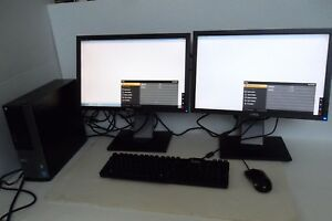 "Dell Optiplex 7010 Intel Core i7 3.40GHz 320GB 8GB Wireless w/Dual 19"" Monitor"