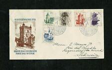 NEDERLAND 1951 FDC zomerzegels NVPH E5 beschreven, gesloten klep