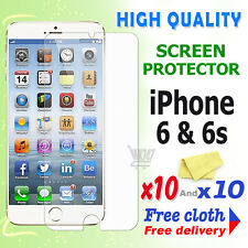 10 Crystal Screen Guard Clear Screen Protector For Apple iPhone 6 iPhone 6S