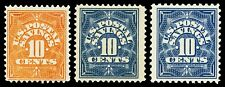 Scott PS1,PS4,PS6 1911-1936 10c Postal Savings Issues Mint F-VF OG NH, H Cat $28