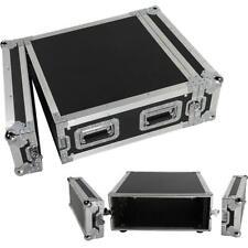 19 Inch Space Rack Case Single Layer Double Door 4U DJ Equipment Cabinet Black