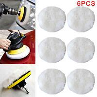 6X Polishing Bonnet Buffer Pads Soft Wool For 9 inch & 10 inch Car Polisher AU