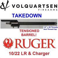 """Volquartsen TAKEDOWN Stainless/Carbon Fiber .920"""" Bull Barrel Ruger 10-22 LR"""