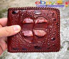Genuine Crocodile Wallets Skin Leather - Billfold Men's-Handmade