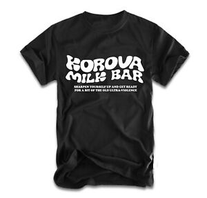 Korova Milk Bar T-Shirt A Clockwork Orange Stanley Kubrick Ultraviolence Alex