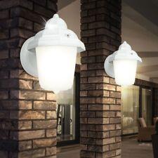 2er Set Außenleuchten Wandlampen Veranda Höhe 22 cm Glas satiniert Beleuchtungen