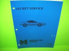 Data East SECRET SERVICE Original 1988 Arcade Pinball Machine Manual Schematics