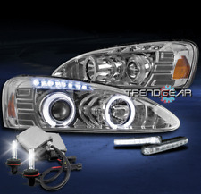 2004-2008 PONTIAC GRAND PRIX HALO LED PROJECTOR HEADLIGHTS LAMP CHROME W/DRL+HID