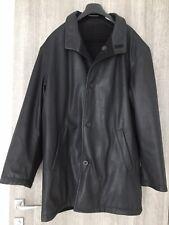 Versace Men's Leather Coat Black Size 56