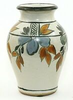 "Handmade Studio Art Pottery Vase White Floral Original Signed Lopez 6.75"" EUC"