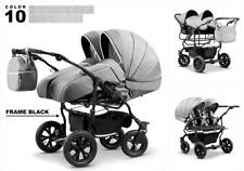 Zwillingswagen Duet Lux Geschwister 3in1- Set Wanne Buggy Babyschale Zubehör 10