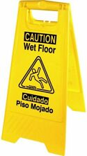 New listing Universal Graphic Wet Floor Sign Foldable English and Spanish Warning Message