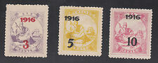 Liberia # 157-59 1916 Surcharges MINT     FOUR FULL OUTER FRAMES