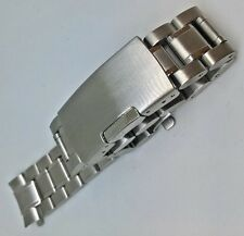QUALITY STAINLESS STEEL STRAP WITH DEPLOYMENT CATCH 18mm 20mm