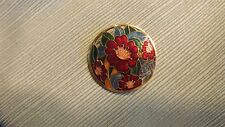 """Toned Pin Brooch 1 1/2"""" 14#B1 Vintage Amit Floral Gold"""