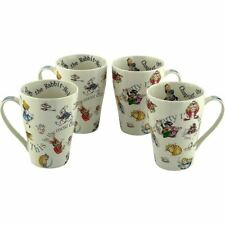 Alice in Wonderland Through The Looking Glass Coffee Cup Mug Set of 4 - Boxed