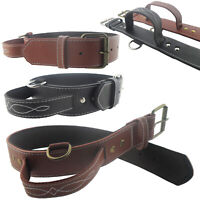 Leather Pet Dog Collar for Medium Large Dogs Adjustable Strap Heavy Duty Walking