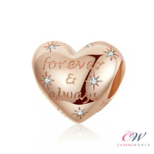Rose Gold Forever & Always Charm 925 Sterling Silver- Wife, Girlfriend Gift 💞