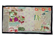 WALL ART TAPESTRY ANTIQUE HANDMADE RUNNER PATCHWORK VINTAGE WALL HANGING