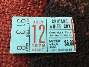 JULY 12 1979 White Sox Tigers BLUE Ticket Stub - Disco Demolition - Comiskey