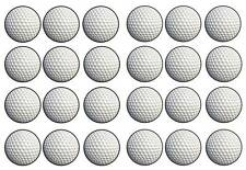 24 Golf ball golfing  golfer cup cake toppers birthdays party edible paper