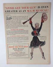 Original Print Ad 1950 ANNIE GET YOUR GUN Betty Hutton Movie Ad