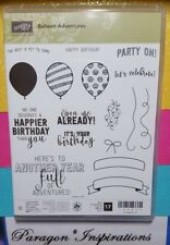 NEW Stampin Up BALLOON ADVENTURES Photopolymer stamps Birthday Party Celebrate