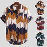 Mens Hawaiian T Shirt Summer Holiday Floral Beach Party Short Sleeve Tops Blouse