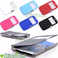 CUSTODIA COVER FLIP CASE LIBRO VISTA FINESTRINO PER LG G2 MINI D620